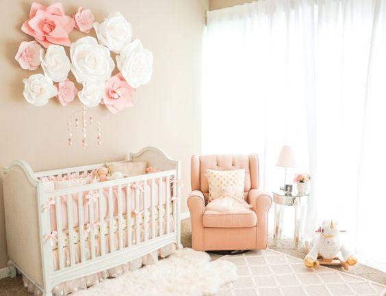39 ideas super tiernas para decorar una habitacin para bebe nia - Habitacion Bebe Nia