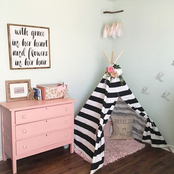 40 ideas lindas para decorar la habitacion de una nina 29 - Ideas para decorar habitacion de nina ...