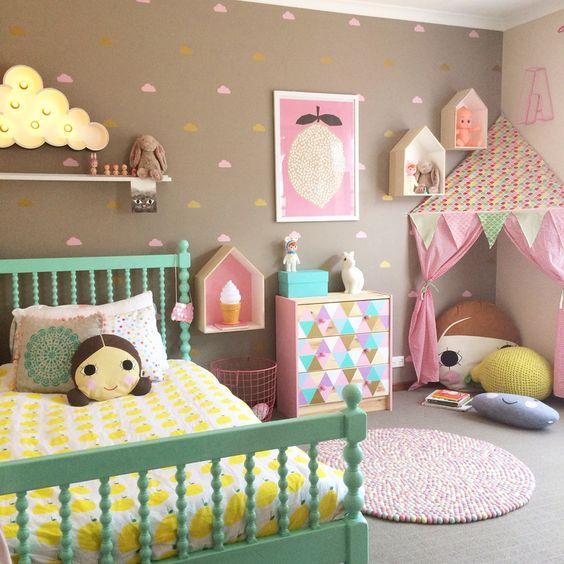 40 ideas lindas para decorar la habitacion de una nina 35 - Ideas para decorar habitacion de nina ...