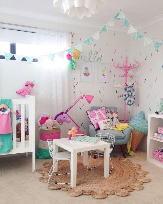 40 ideas lindas para decorar la habitacion de una nina 40 - Ideas para decorar habitacion de nina ...