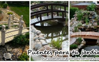 Decora el jardin de tu casa con puentes ¡Se ve precioso!