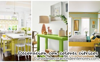 Decoracion de interiores con colores citricos