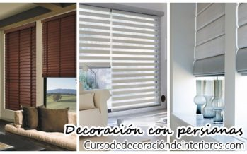 Decoración de interiores con persianas