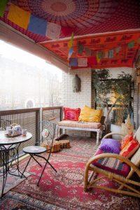 Decoración de terrazas coloridas