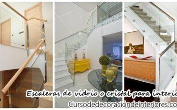 Diseños de escaleras con vidrio o cristal