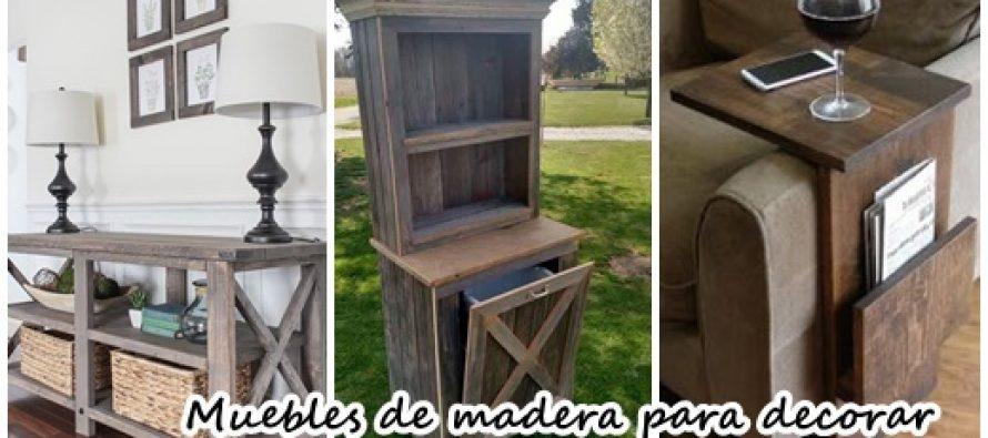 Dise os de muebles de madera para decorar tu casa for Diseno de muebles de madera