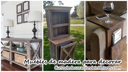 Dise os de muebles de madera para decorar tu casa curso - Disenos para muebles de madera ...