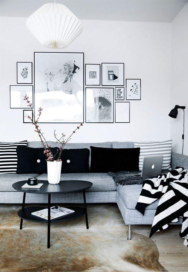 Ideas de decoracion de interiores en blanco y negro 10 - Decoracion de interiores en blanco ...