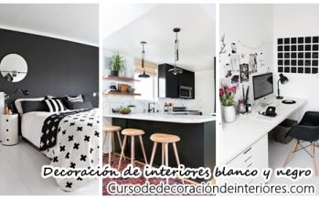 Ideas de decoración de interiores en blanco y negro
