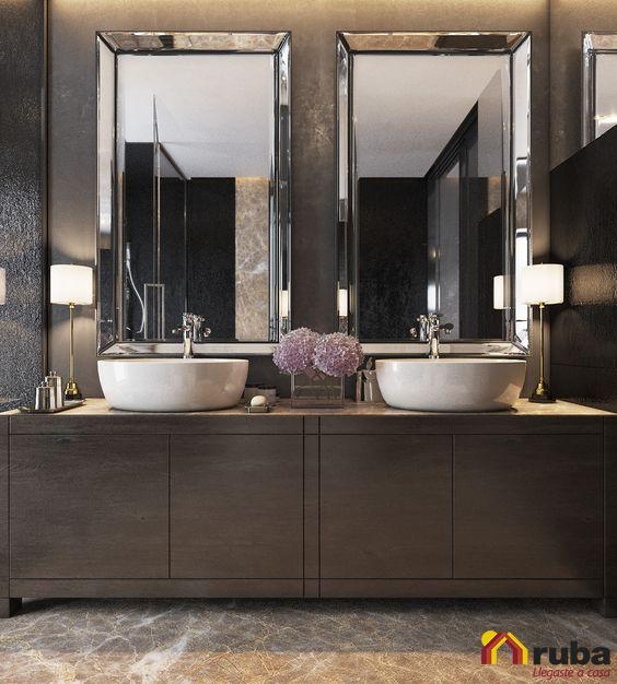 37 Ideas de decoración para baños dobles