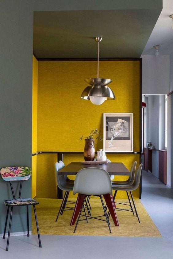 32 ideas para decoración de interiores color mostaza