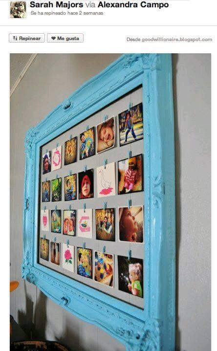 30-ideas-para-reciclar-marcos-y-decorar-con-ellos (5) | Curso de ...