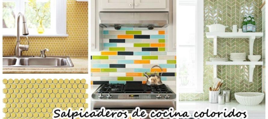 30 salpicaderos coloridos para tu cocina decoracion de - Salpicaderos de cocina ...