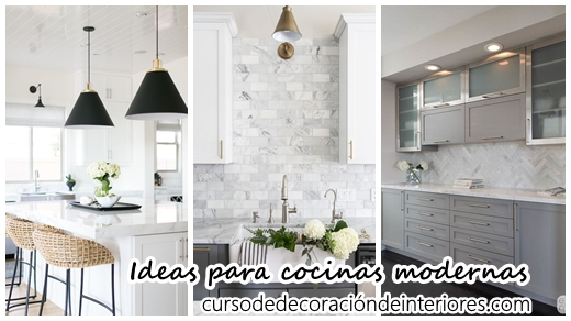35 Ideas para Decorar Cocinas Modernas | Curso de Decoracion de ...