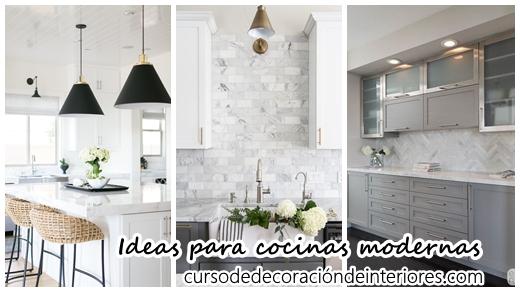 35 Ideas para Decorar Cocinas Modernas | Decoracion de interiores ...