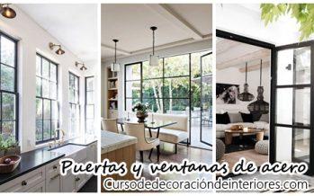 36 ventanas y puertas de acero – tendencia en interiores