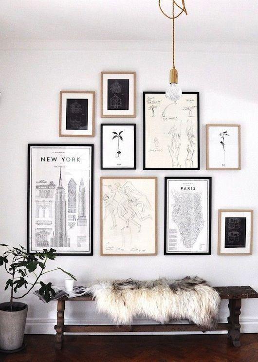 40-galerias-de-pared-para-decorar-tus-espacios (8)   Decoracion de ...
