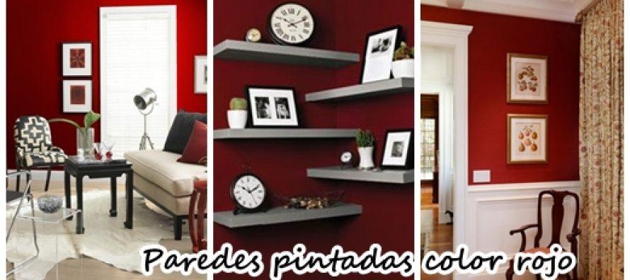 Acentua las paredes de tu casa con color rojo ¡Se ve hermoso!