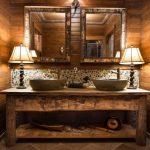 Baños rústicos y elegantes a la vez