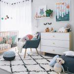 Decoración de habitación moderna para bebé