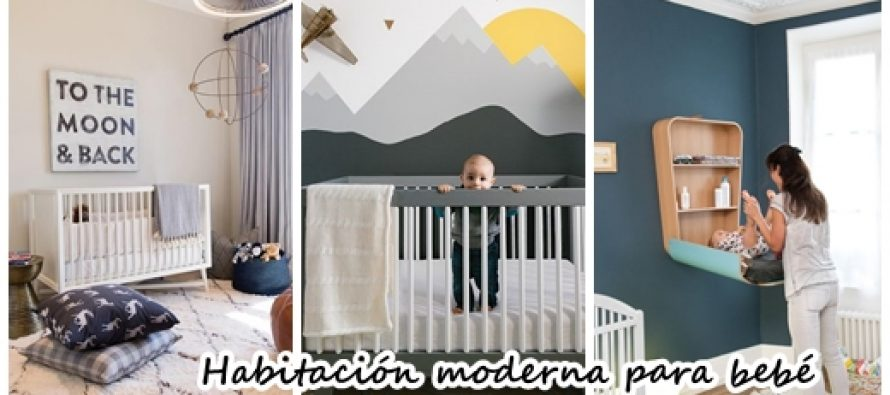Decoraci n de habitaci n moderna para beb decoracion de for Habitacion bebe moderna