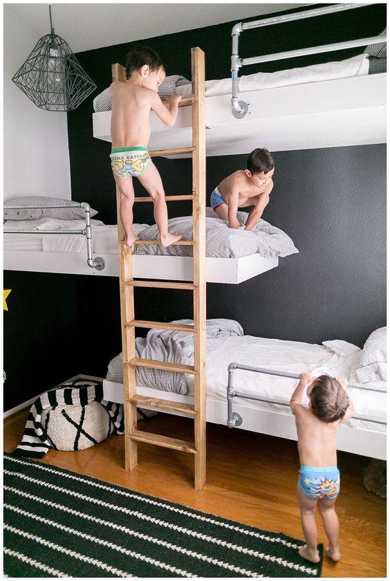 Increíbles literas para niños que te ahorrarían mucho espacio