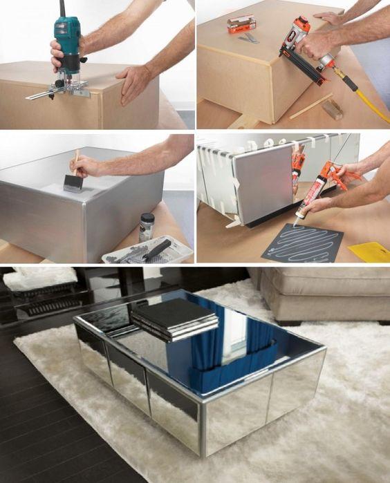 Mirror Table Decorations: Mesas-de-centro-revestidas-con-espejo (11)