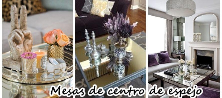 Mesas de centro revestidas con espejo