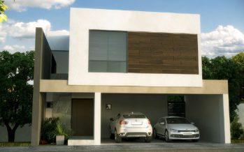 Fachada y plano de una casa minimalista que tiene todo para una familia moderna