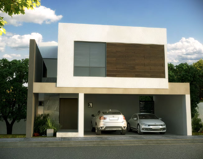 Fachada y plano de una casa minimalista que tiene todo for Vivienda minimalista planos