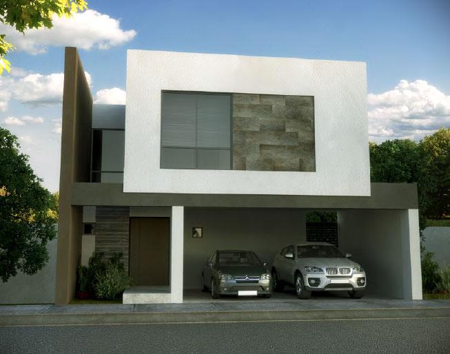 Fachada y plano de una casa minimalista que tiene todo pa for Vivienda minimalista planos