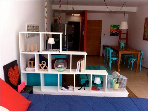 ideas para dividir espacios en departamentos pequenos 16