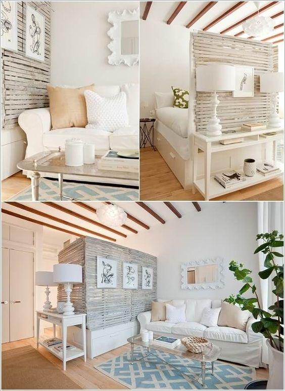 Ideas para dividir espacios en departamentos pequenos 17 for Diseno de interiores para departamentos pequenos