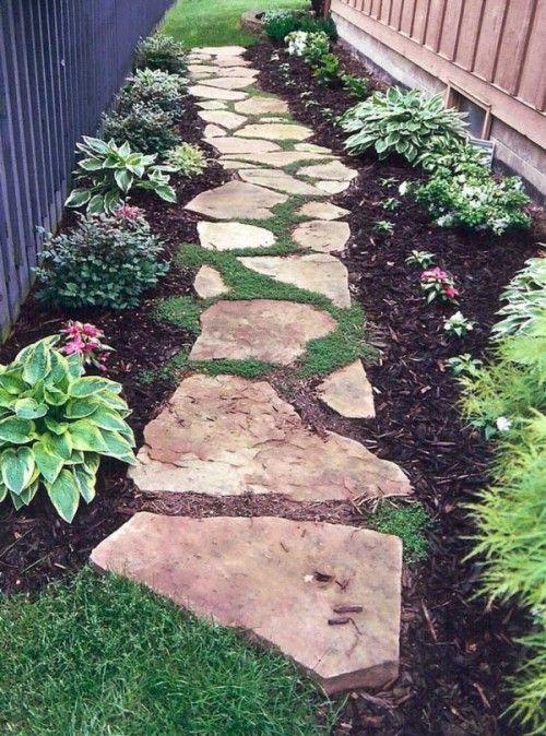 Jardines decorados con rocas y piedras