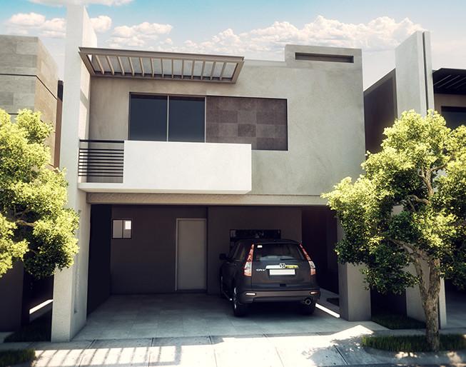 mira esta casa moderna de dos pisos con 3 recamaras te va On casas modernas 3 recamaras