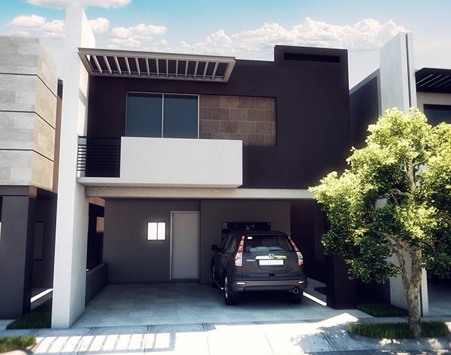 Mira esta casa moderna de dos pisos con 3 recamaras te va for Recamaras modernas monterrey
