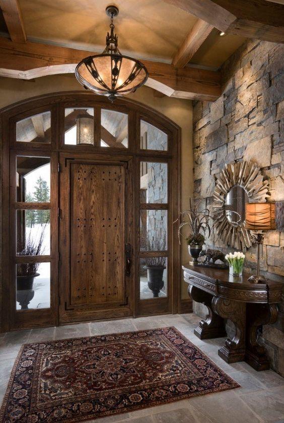 Moderna y rustica esta casa te va a encantar for Things to hang on front door