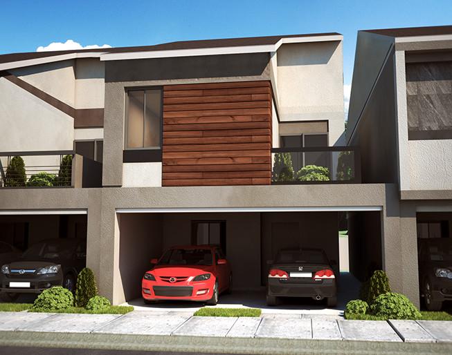 Fotos de casas modernas por fuera affordable plano de un for Casa moderna por fuera
