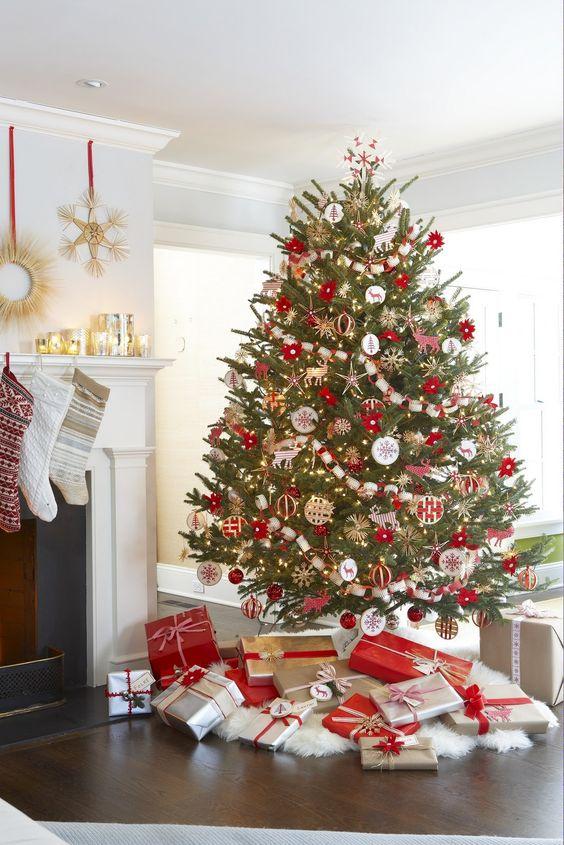 Tendencias para decorar tu arbol de navidad 2017 2018 12 for Decoracion de navidad 2017