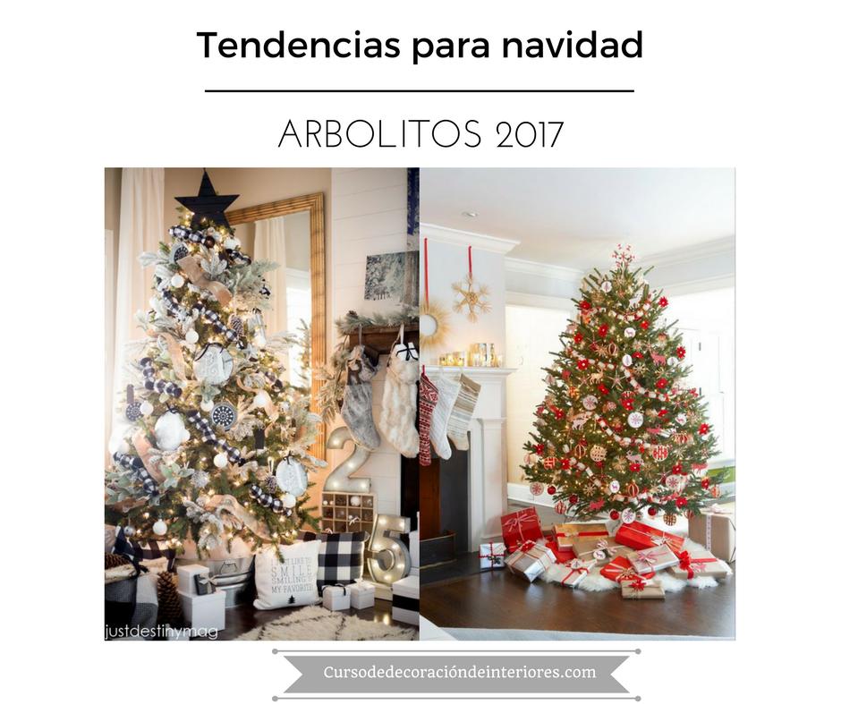 Tendencias para decorar tu arbol de navidad 2017 2018 - Colores decoracion 2017 ...