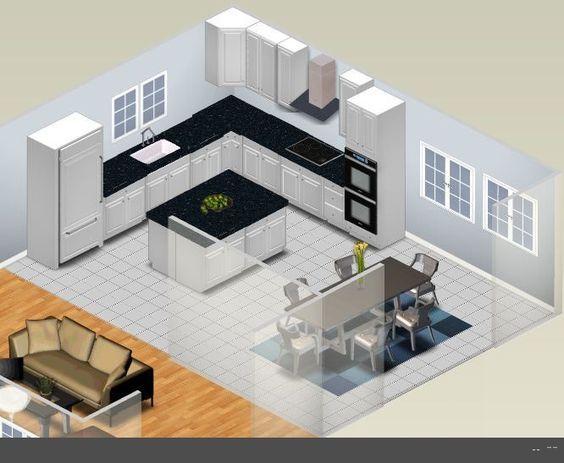 25 cocinas pequenas en forma de l 1 curso de decoracion de interiores interiorismo - Cocinas en forma de l pequenas ...
