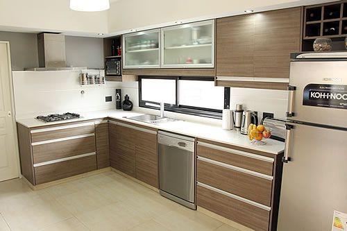 25 cocinas peque as en forma de l decoracion de - Cocina en forma de l ...