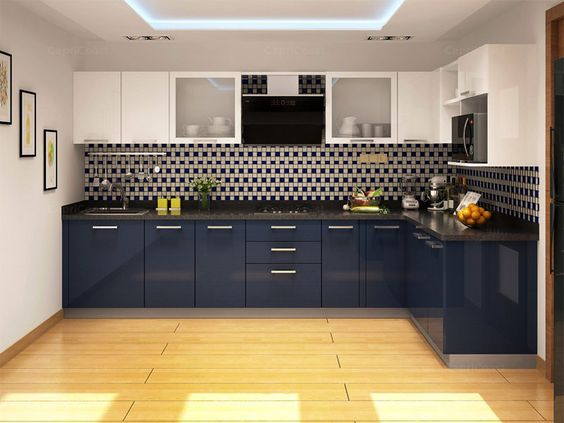 25 cocinas pequenas en forma de l 14 decoracion de for Cocinas en forma de l