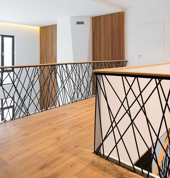25 disenos de barandales para escaleras interiores y for Tipos de escaleras exteriores