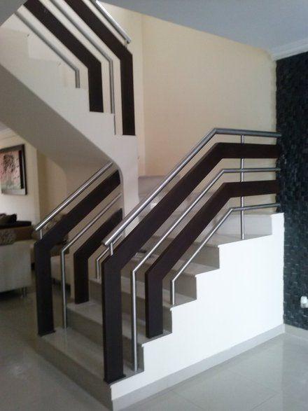 25 disenos de barandales para escaleras interiores y - Barandales modernos para escaleras ...