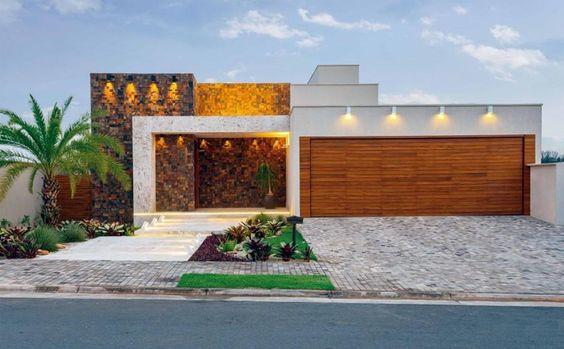 27 fachadas de casas 2018 para inspirarte a construir la tuya curso de decoracion de - Fachadas de viviendas sencillas ...