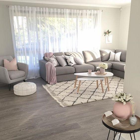 50 Brilliant Living Room Decor Ideas In 2019: Decoracion-de-salas-grises (22)