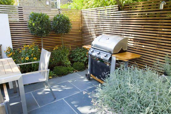 Patios pequenos con asador para que te inspires a renovar Pisos para patios pequenos