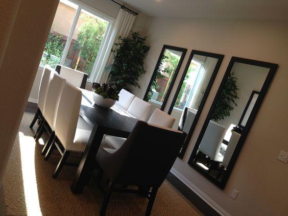25 comedores decorados con espejos 25 decoracion de for Comedores con espejos grandes