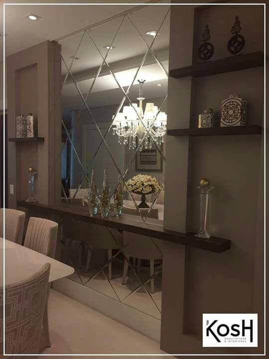 25 comedores decorados con espejos decoracion de for Espejos para decoracion de comedores